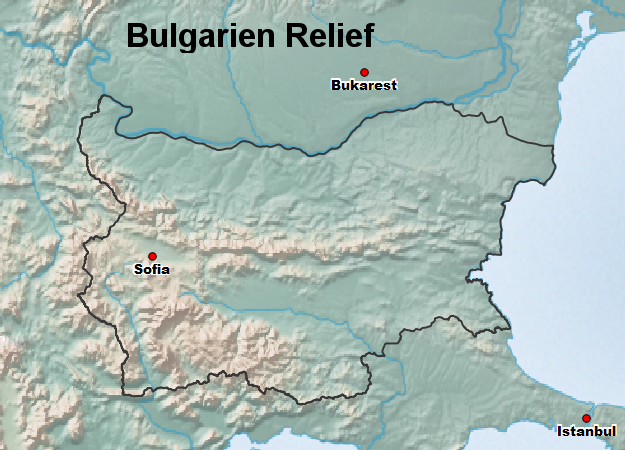 Bulgarien Relief