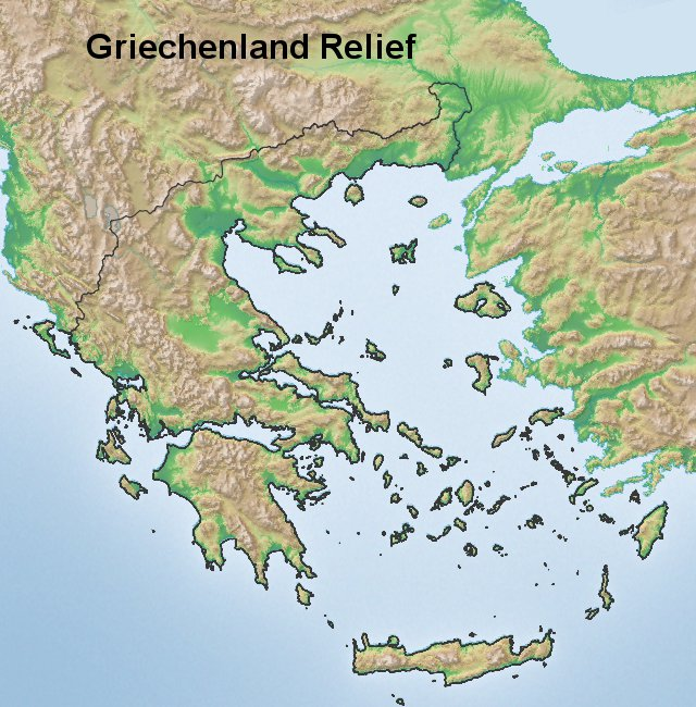 Friechenland Relief